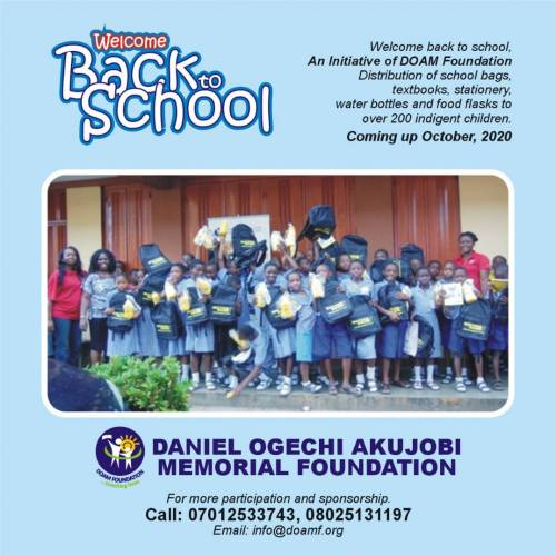 Welcome Back to School Initiative of DOAM Foundation