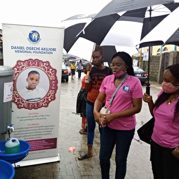 DOAMF Donates Hand wash facilities to Asejere Market, Makoko In combating the novel Covid-19